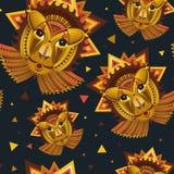 La cara geométrica del león builded de círculos, de triángulos y de otro Foto de archivo