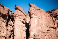 La caractéristique géologique de piliers de Solomons du parc Israël de Timna Photo stock