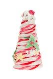 La caramella dell'albero di Natale ha isolato Fotografie Stock Libere da Diritti