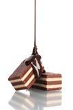 La caramella di ?hocolate ha versato il cioccolato Immagine Stock