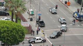 La caravana de la policía en ocupa marzo