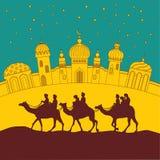 La caravane du chameau Photo libre de droits