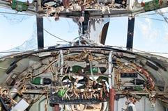 La carlinga interior del helicóptero Imagen de archivo libre de regalías