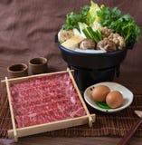 La carne de vaca corta Hotpot Fotos de archivo libres de regalías