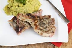 La carne del cordero con adorna Foto de archivo
