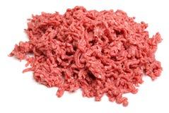 La carne picada cruda pica Imagen de archivo libre de regalías