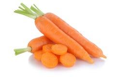 La carota delle carote ha affettato la verdura della fetta isolata fotografie stock
