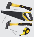 La carpintería equipa vector Fotografía de archivo