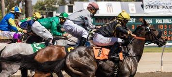 La carrera de caballos Imagenes de archivo