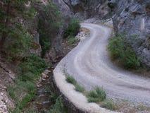 La carretera con curvas Fotos de archivo