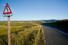 Camino del campo de la bobina Fotografía de archivo