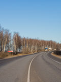 La carretera del asfalto se apagó Foto de archivo