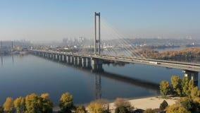 La carretera más ocupada de Shangai del chino de la opinión aérea del lapso de tiempo, autopista sin peaje, autopista, intercambi metrajes