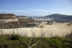 La carrière d'ENCI à Maastricht produit le ciment à partir de la roche de marlstone qui est historiquement juste au-dessous de la photos stock