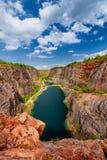 La carrière en pierre a appelé Big Amérique (Velka Amerika) près de Prague, République Tchèque Images libres de droits