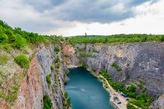 La carrière en pierre a appelé Big Amérique (Velka Amerika) près de Prague, République Tchèque Photo libre de droits