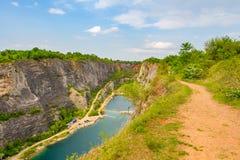 La carrière en pierre a appelé Big Amérique (Velka Amerika) près de Prague, République Tchèque Images stock