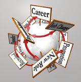 La carriera firma Job Path Promotion Change professionale Fotografia Stock Libera da Diritti