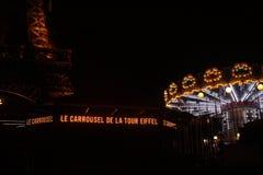 La Carrousel de la Tour Eiffel stock images