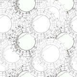 La carta astrológica natal synastry del modelo inconsútil, zodiaco firma Imágenes de archivo libres de regalías