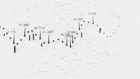 La carta com?n financiera positiva de Digitaces crece animaci?n abstracta 3840 del valor de la carta del mercado global 2160 UHD stock de ilustración