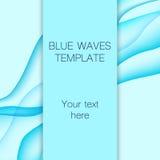 La carta con il blu ondeggia su fondo Fotografie Stock Libere da Diritti