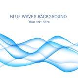 La carta con il blu ondeggia su fondo Fotografia Stock
