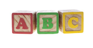 La carta cubica el ABC Foto de archivo