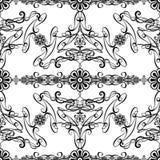 La carta da parati in bianco e nero di stile dell'annata di disegno Fotografia Stock Libera da Diritti