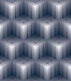 La carta da parati decorativa geometrica 3d, sottrae il picchiettio senza cuciture quadrato Immagine Stock Libera da Diritti