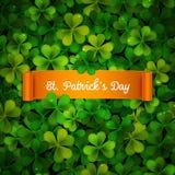 La carta del giorno di Patricks del san, nastro sull'acetosella va Fotografia Stock