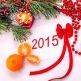 La carta del nuovo anno 2014 Fotografie Stock Libere da Diritti