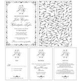 La carta dell'invito di nozze con è aumentato Fotografia Stock Libera da Diritti