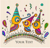 La carta della celebrazione/buon compleanno invita/carta royalty illustrazione gratis