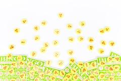 La carta di bingo sistema con il chip di numero Immagini Stock Libere da Diritti