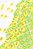 La carta di bingo sistema con il chip di numero Immagine Stock Libera da Diritti