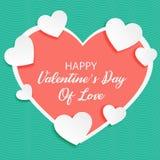 La carta di un biglietto di S. Valentino di amore illustrazione di stock
