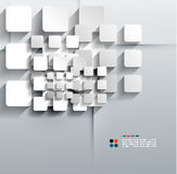 La carta di vettore 3d quadra la progettazione moderna Immagini Stock