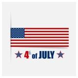 La carta felice di festa dell'indipendenza, quarta di luglio, Vector il backgr astratto Fotografie Stock Libere da Diritti