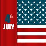 La carta felice di festa dell'indipendenza, quarta di luglio, Vector il backgr astratto Fotografia Stock Libera da Diritti