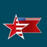 La carta felice di festa dell'indipendenza, quarta di luglio, Vector il backgr astratto Fotografie Stock