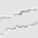 La carta ha strappato trasparente con spazio per testo, arte di vettore e l'illustrazione illustrazione vettoriale