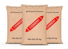 La carta licenzia le borse del cemento rappresentazione 3d illustrazione vettoriale