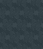 La carta perforata scura con il profilo espelle effetto Fotografia Stock Libera da Diritti