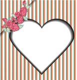 La carta romantica d'annata è aumentato Fotografie Stock Libere da Diritti