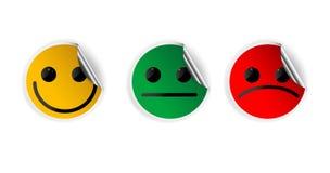 La carta sorride icone Immagini Stock Libere da Diritti