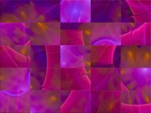 La carte abstraite de calibre de fractale, rendent la couverture de mystère fantastique, mosaïque illustration libre de droits