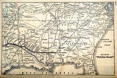 La carte/chemin de fer chemine les années 60 Images stock