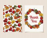 La carte décorative vous remercient Photos libres de droits