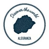 La carte d'Alegranza dans le vintage découvrent le monde Photos stock